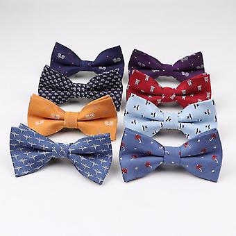Børn Man Fashion Polyester Butterfly Kid Klassisk Bowties Umbrella Bil Fisk