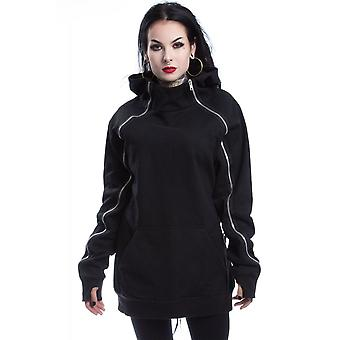 Heartless Pearl Womens Gothic Hoodie