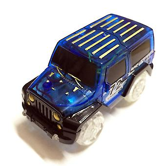 Electronic Car Toy Led Light Up For Glow Race Track Flashing Kid Railway