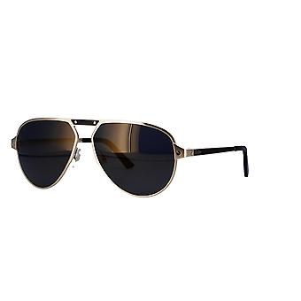 Cartier Santos de Cartier CT0101S 005 Gold/Grey Sunglasses