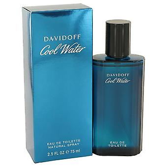 Kaldt vann Eau De Toilette Spray av Davidoff 2,5 oz Eau De Toilette Spray
