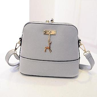 Nubuck Leather Women Bags, Small Shell With Deer Toy, Women Shoulder Casual