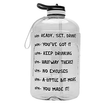 Large 1 Gallon Motivational Water Bottle , Sports Water Jug With Time Marker
