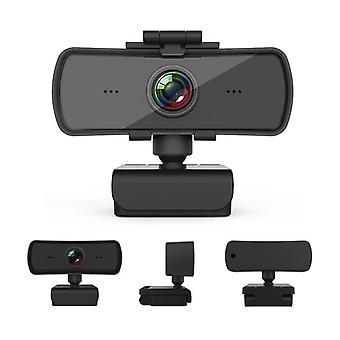 Cámara web con micrófono Full HD 1080P transmisión en vivo Web Cam Auto Focus Plug para portátil / Mac / escritorio