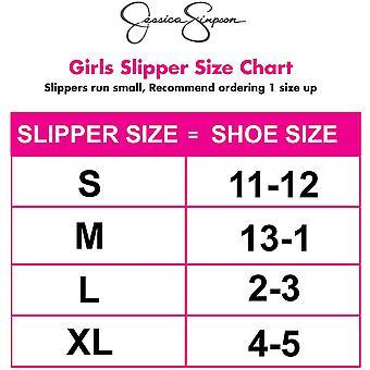 Jessica Simpson Girl's Slip-on Klompen - Fuzzy Comfy Warm Memory Foam Sherpa Slippers Met Satijnen Strik