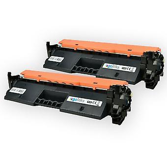 2-trykkfarger svart lasertonerkassetter for å erstatte HP CF230A (30A) kompatibel/ikke-OEM for HP Laserjet Pro-skrivere