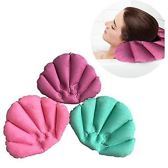 Soft Bath Pillows Home Inflatable Spa Pillow With Suction Cups