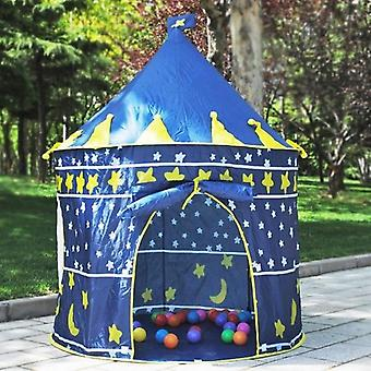 Indoor/Outdoor Children's Toys Gaming Play House Princess Castle Tent Gift for Children(dark blue)