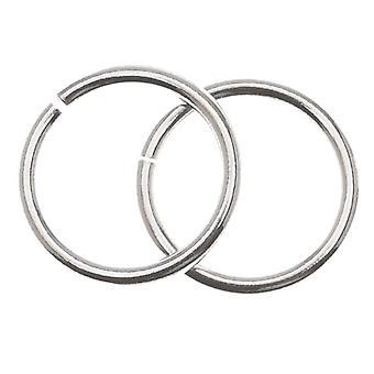 Final Sale - Sterling Silver Open Jump Rings 10mm 18 Gauge Heavy (8)