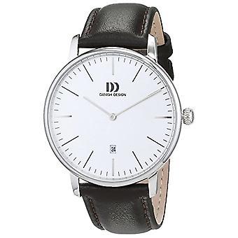 Deense design analoge horloge quartz mannen met lederen riem nr.: IQ12Q1175