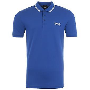 BOSS Paddy Pro Tipped Polo Shirt - Blue