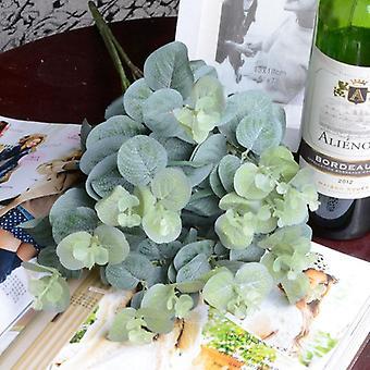 ユーカリはシルク造花、アレンジメントツリープラントブーケ、偽物を残します