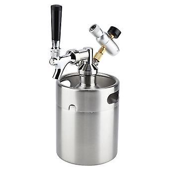 Barril de acero inoxidable con grifo presurizado elaboración de cerveza casera artesanal, dispensador de cerveza