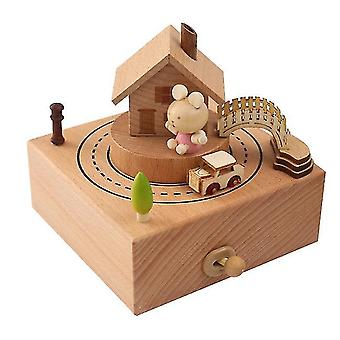 Wooden Music Box Home Creative Solid Wood Mother's Day