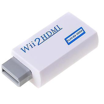 2kpl valkoinen wii-tulo hdmi 1080p hd audio output muunnin kaapeli 3.5mm jack audio az19551