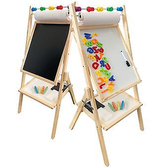 Schoolbord krijtbord dubbelzijdig – Magnetisch – Met accessoires
