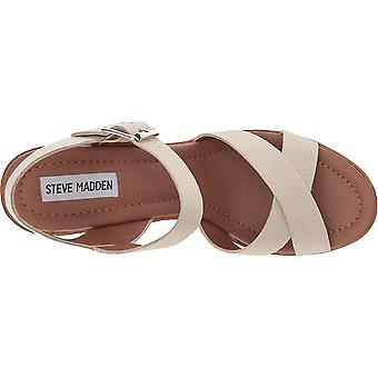 Steve Madden Womens Piranna Leather åpen tå casual plattform sandaler