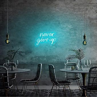 Ge aldrig upp - Blå blå vägglampa