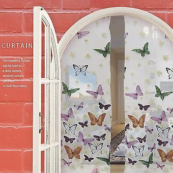 Butterflies Voile Curtains Divider Window Curtain Sheer Romantic Curtains