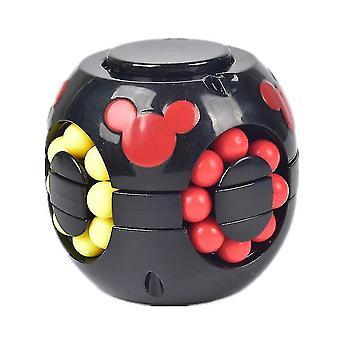 Børns pædagogiske Burger Cube legetøj, Anti-Stress Puzzles Rubik's Cube legetøj (Sort)
