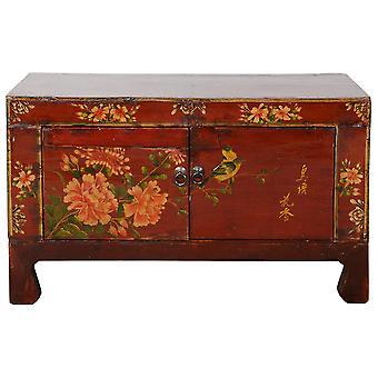 Hieno aasialainen likööri antiikkinen kiinalainen kabinetti käsinmaalantu W83xD36xH50cm