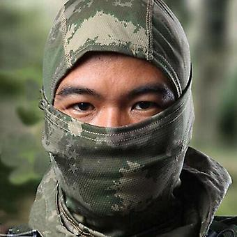 (Jungle Green) Full Face Mask Cycling Ski Neck Army Camouflage Motorcycle Balaclava Hat