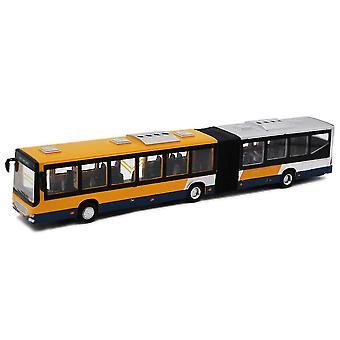 Legering Forlænget Dobbelt-sektion Bus Special No. 1 Bus Pull Back Sound Light Car Model Børns Legetøj