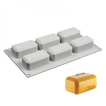 6 Cavity Silicone Reusable Soap Molds Rectangular Shape For Handmade Craft Soap Making, For Home Bathroom