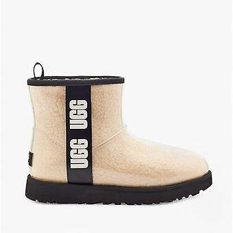 UGG Classic Clear Mini Ladies Synthetic Waterproof Boots Natural/black