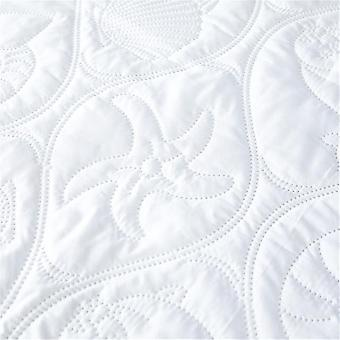Solid Color Quilted Embossed Waterproof Thick Soft Pad Mattress