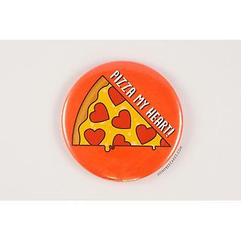 Pizza My Heart Magneet pin en pocket spiegel