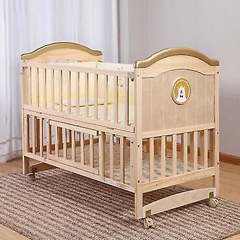 Krippe Holz - unlackierte Wiege Nähbett für Neugeborenes Baby