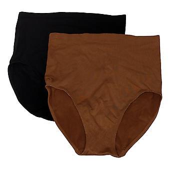 Rhonda Shear Höschen 2er Pack Seamless Jacquard Ahh Brief Brown 720773