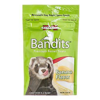 פינוקי חמוס פרימיום של Marshall Bandits - טעם בננה - 3 אונקיות