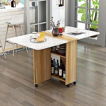 Folding Dining Table Modern Simplicity Movable Storage Kitchen Table