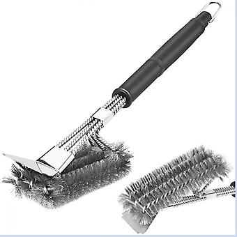 Barbecue Brush, 18 Upgraded 3 In 1 Stainless Steel Wire With Scraper, 360  Barbecue Cleaning For Grills And Charcoal Grill