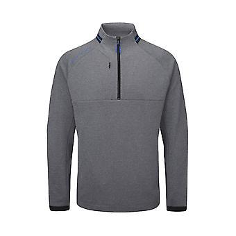 Oscar Jacobson Mens Mid Layer Long Sleeve Sports 1/4 Zip Fleece Top