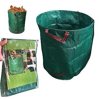 Sac à déchets de jardin Réutilisable Yard Fallen Leaf Sacs de stockage Conteneur de collecte (60L16 gallons