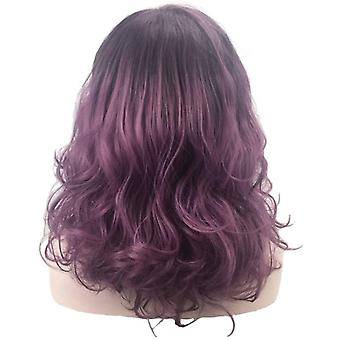 Wig European And Female Wig Gradient Cosplay Animation Long Curly