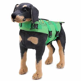Pet Swimwear Pet Life Vest Mermaid Reflective Swimwear Whale Dog Swimwear, (jsy02 Green) M