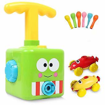Dzieci Bezwładność BalonOwa zabawka samochodowa, Inercyjny balon mocy, Balonowa zabawka samochodowa, Napędzany mocą samochód startowy z 6 balonami, Nauka edukacyjna Diy Toy F
