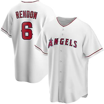 Pánské baseballové dresy #17 Ohtani #6 Rendon #27 Trout Angels Player Jerseys 90s Hip Hop Game Fans Sportovní baseballové dresy Velikost S-xxxl