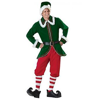 Christmas Green Elf Men's Christmas Uniform, Party And Evening Stage Performance Costume