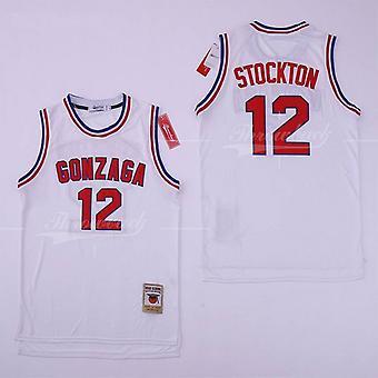 Men's Basketball Jersey Stockton 12 Gonzaga Sports Shirts Stitched Size S-xxl