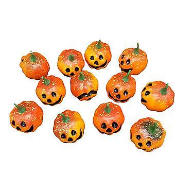 12 шт искусственная тыква, симуляция пены мини-тыквы набор, украшение Хэллоуина