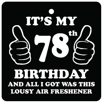 78.o cumpleaños pésimo ambientador de aire