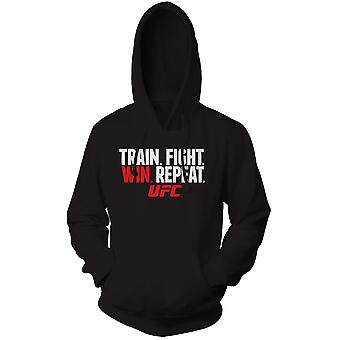 UFC Train Fight Win Pullover Hoodie - Black