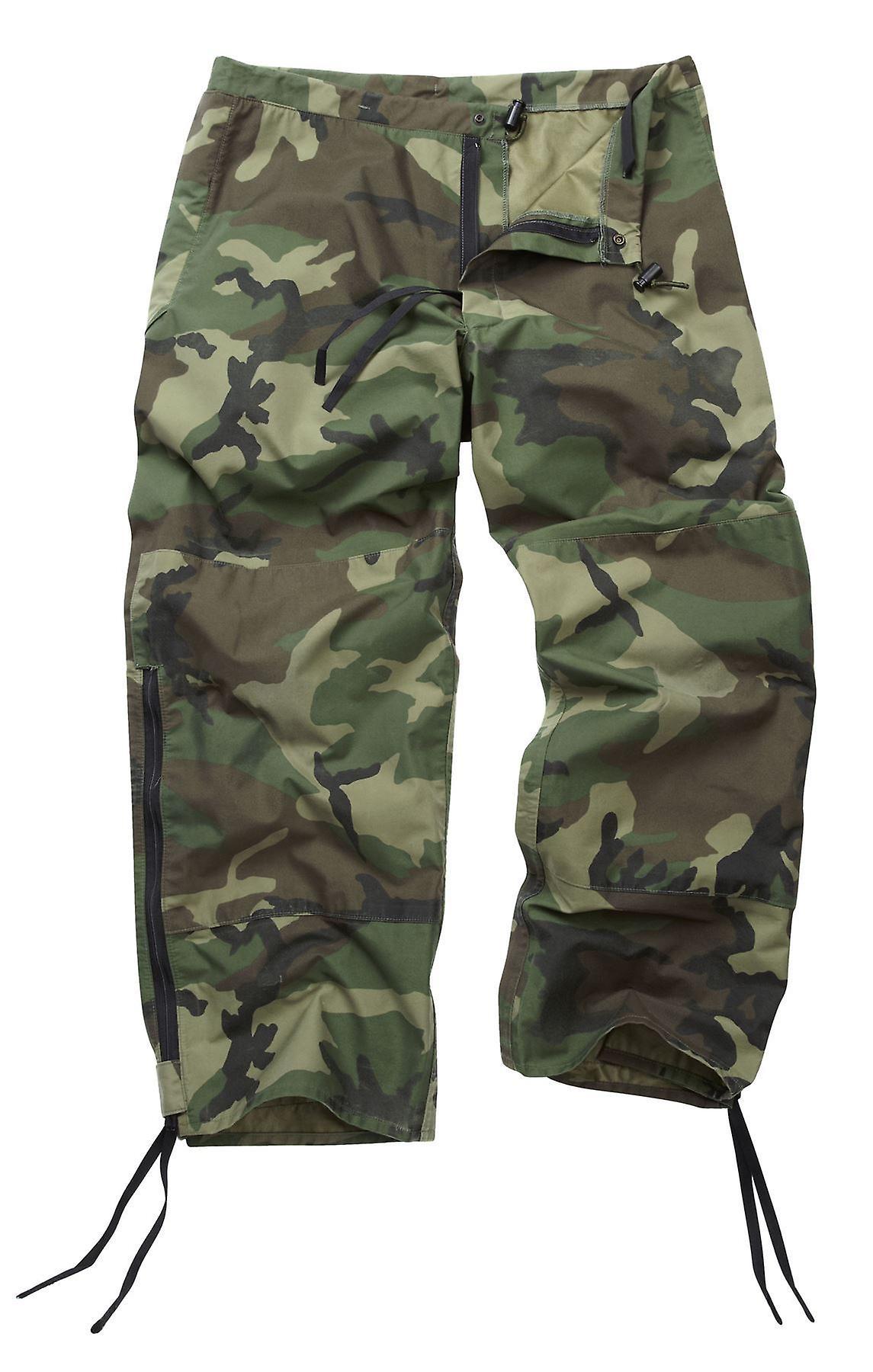 Genuine Reclaimed US Goretex Woodland Camo Trousers / Pants