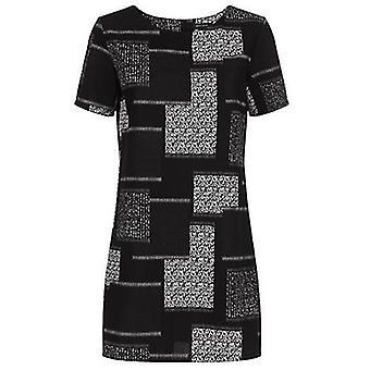 NL lapptäcke Kortärmad tunika klänning
