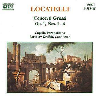 P. Locatelli - Locatelli: Concerti Grossi, Op. 1, Nos. 1-6 [CD] USA import